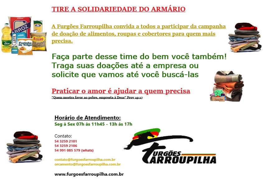 CAMPANHA DE ARRECADAÇÃO - COMUNIDADE BURATI - FARROUPILHA/ RS