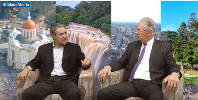 Cenair Gomes da Silva entrevista Claiton Gonçalves - Prefeito de Farroupilha